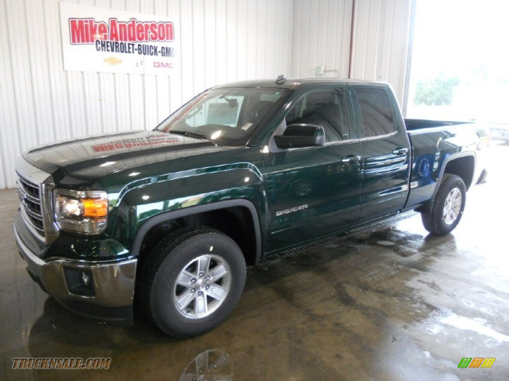 2014 Gmc Sierra 1500 Sle Double Cab In Emerald Green