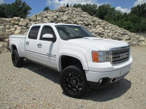 Summit White 2011 GMC Sierra 2500HD Denali Crew Cab 4x4
