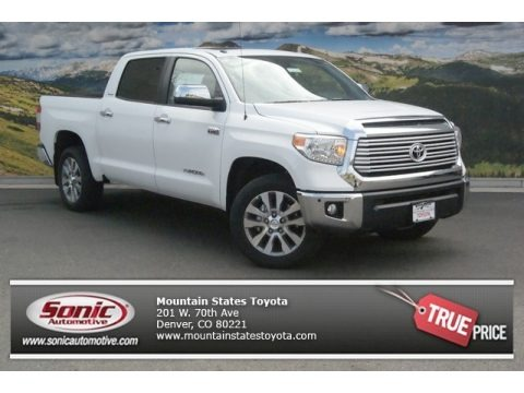 Super White 2014 Toyota Tundra Limited Crewmax 4x4