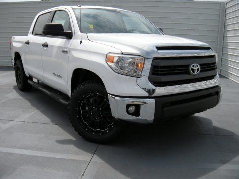 Super White 2014 Toyota Tundra TSS CrewMax