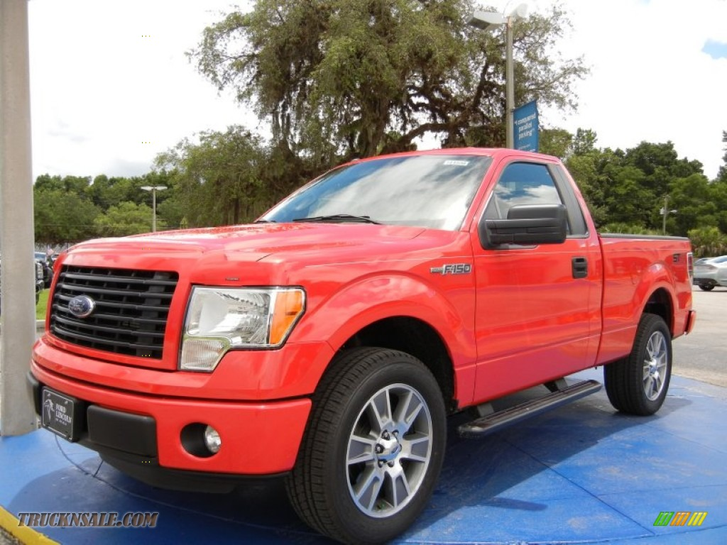 2014 ford f150 stx regular cab in race red c48457 truck n 39 sale