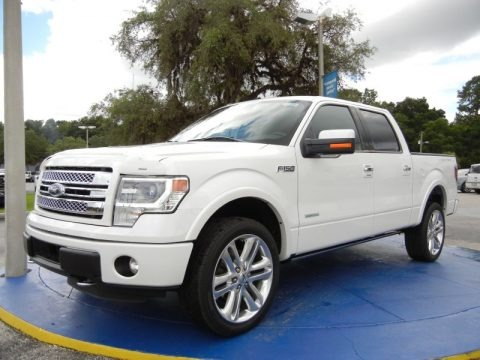 White Platinum 2014 Ford F150 Limited SuperCrew 4x4