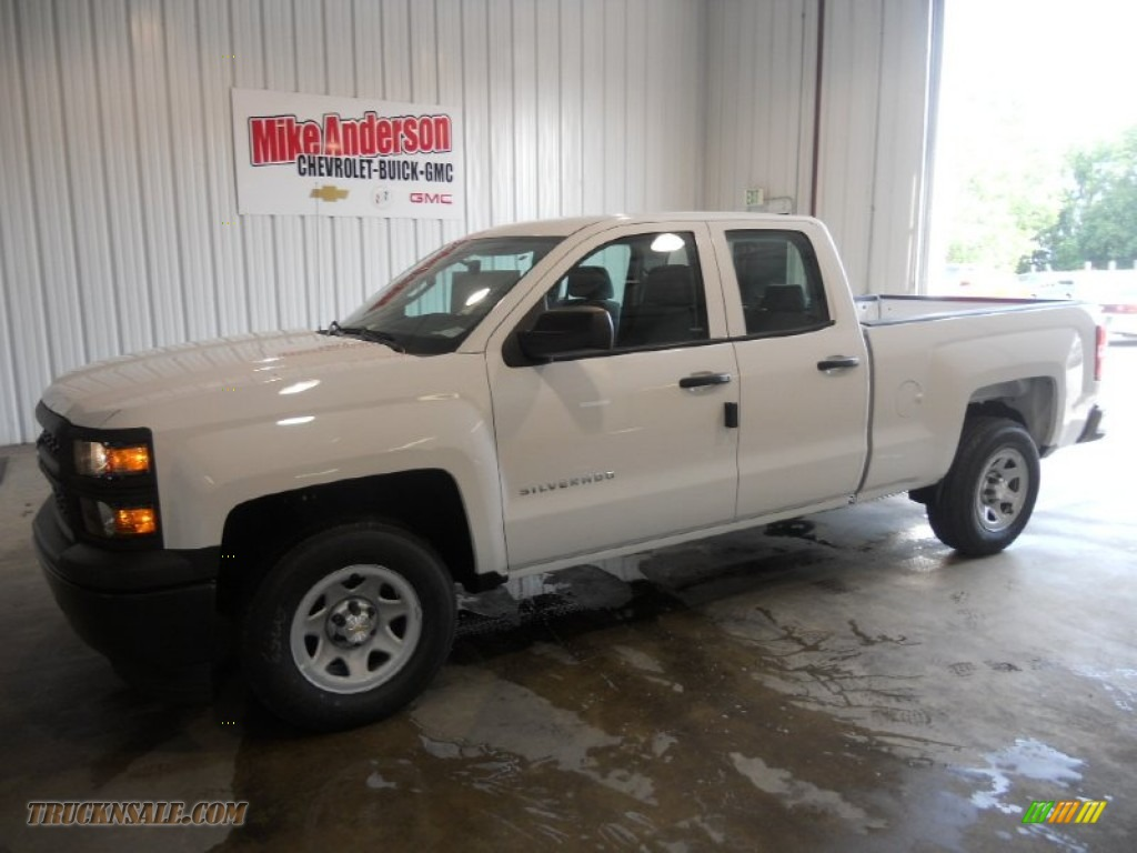 2014 chevrolet silverado 1500 wt double cab in summit white 369618 truck n 39 sale. Black Bedroom Furniture Sets. Home Design Ideas