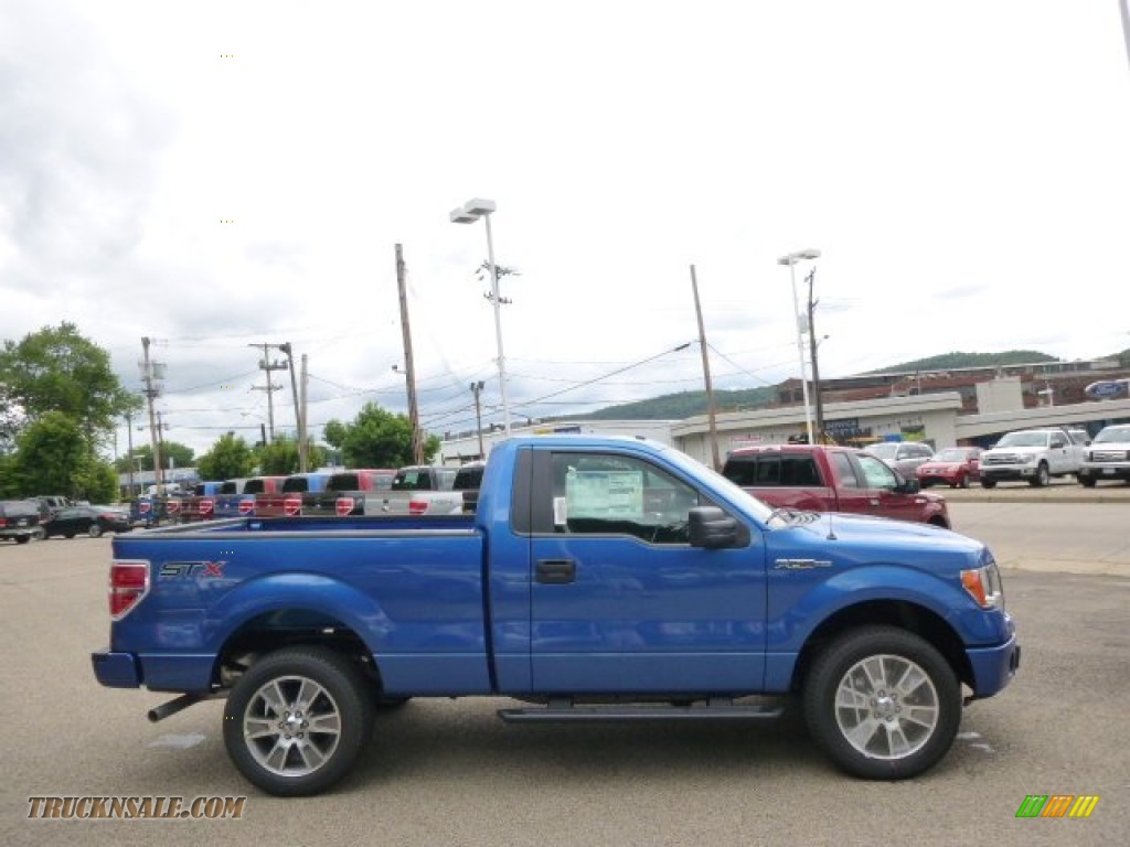 2014 ford f150 stx regular cab 4x4 in blue flame e78266 truck n 39 sale. Black Bedroom Furniture Sets. Home Design Ideas