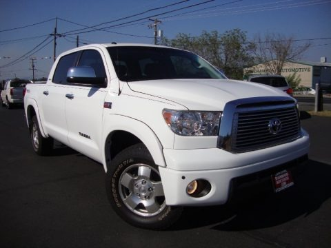 Super White 2011 Toyota Tundra Limited CrewMax 4x4