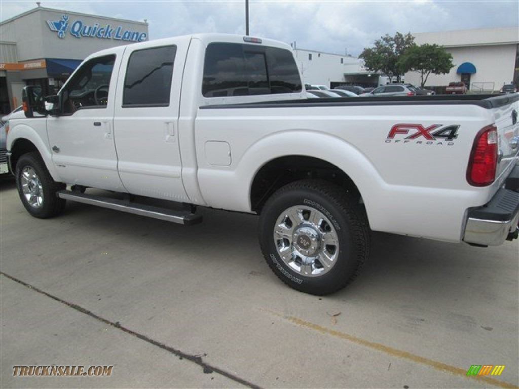 2015 Ford F250 Super Duty King Ranch Crew Cab 4x4 In White Platinum Photo 15 B03257 Truck N