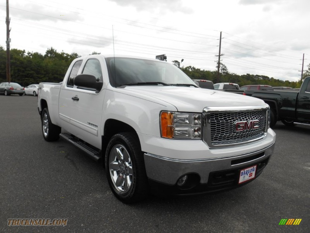 2012 gmc sierra 1500 sle extended cab 4x4 in summit white 139327 truck n 39 sale. Black Bedroom Furniture Sets. Home Design Ideas