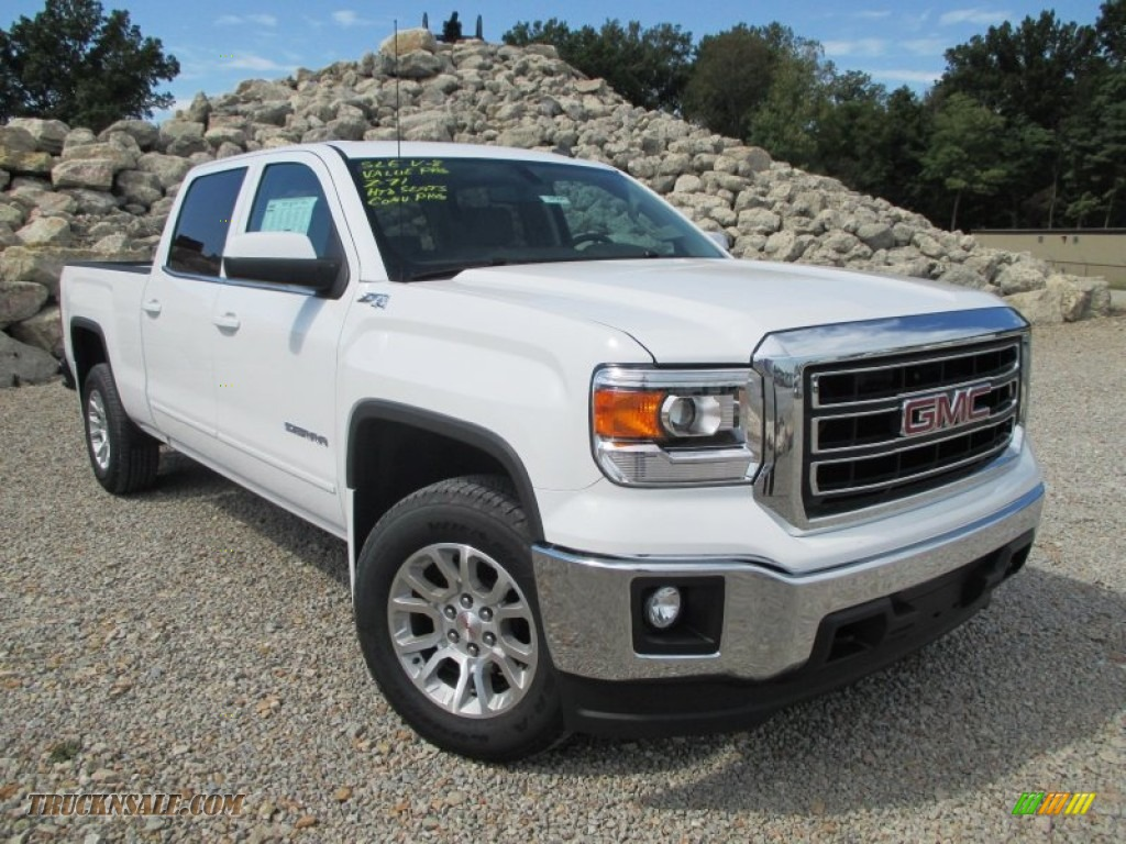 2014 gmc sierra 1500 sle crew cab 4x4 in summit white for Steve white motors inc