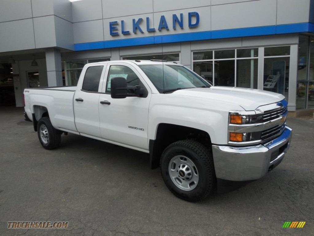 2015 chevrolet silverado 2500hd wt double cab 4x4 in summit white 138642 truck n 39 sale. Black Bedroom Furniture Sets. Home Design Ideas