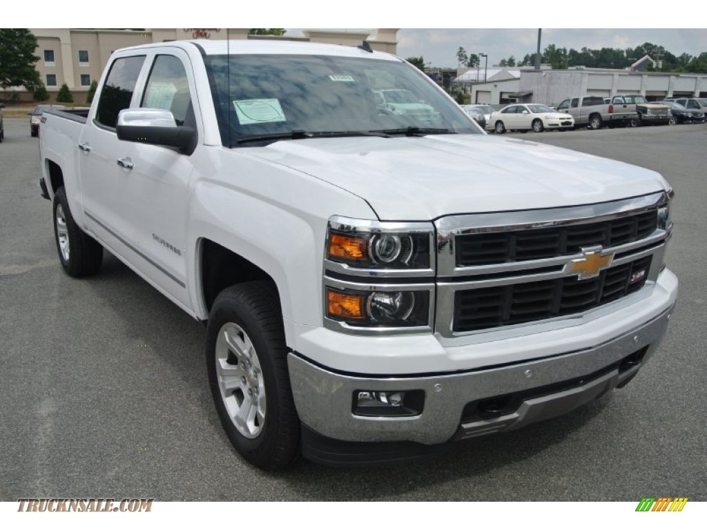 2014 chevrolet silverado 1500 ltz z71 crew cab 4x4 in summit white 539201 truck n 39 sale. Black Bedroom Furniture Sets. Home Design Ideas