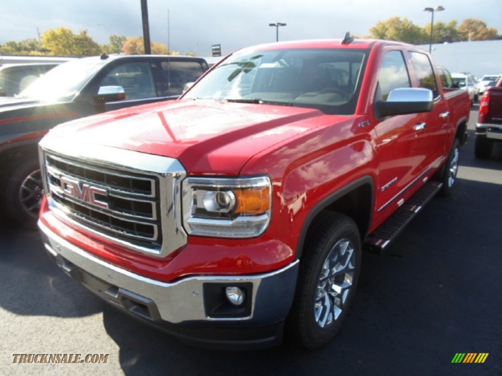 2015 gmc sierra 1500 slt crew cab 4x4 in fire red 124520 truck n 39 sale. Black Bedroom Furniture Sets. Home Design Ideas