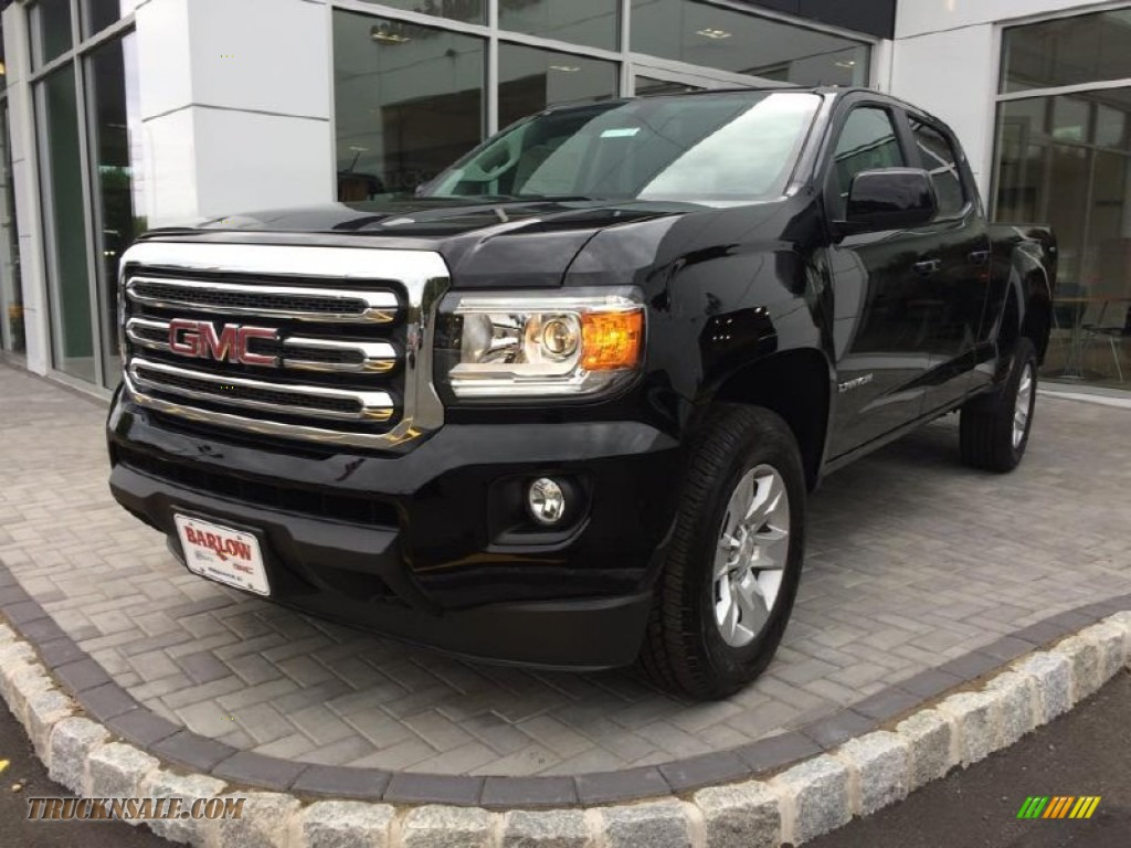 2015 gmc canyon sle crew cab 4x4 in onyx black 122085 truck n 39 sale. Black Bedroom Furniture Sets. Home Design Ideas