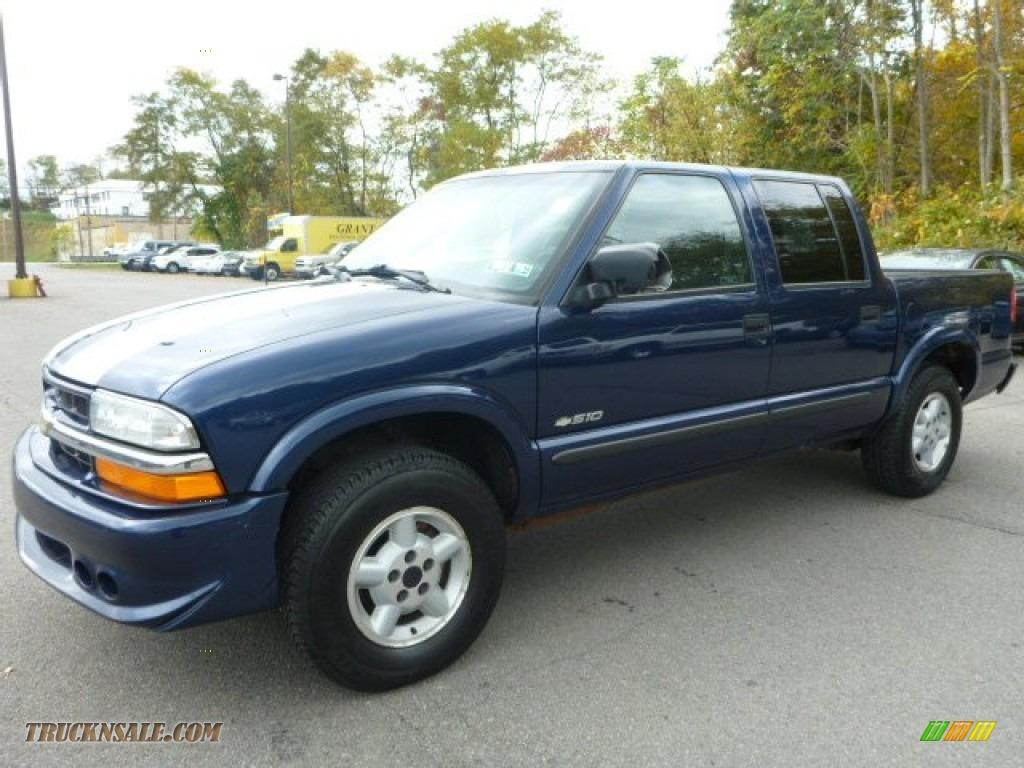 2004 chevrolet s10 ls crew cab 4x4 in indigo blue metallic 128490 truck n 39 sale. Black Bedroom Furniture Sets. Home Design Ideas