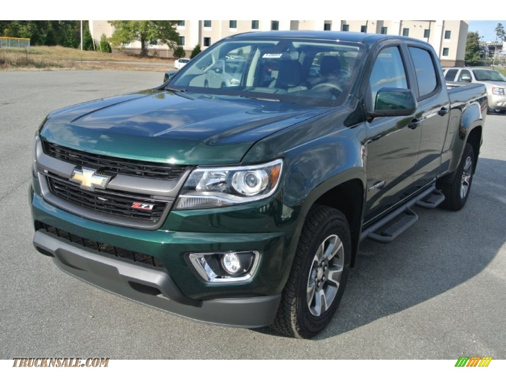 2015 chevrolet colorado z71 crew cab 4wd in rainforest green metallic photo 2 121608 truck. Black Bedroom Furniture Sets. Home Design Ideas