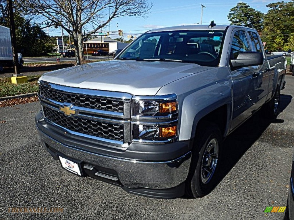 2015 chevrolet silverado 1500 wt double cab in silver ice metallic 170317 truck n 39 sale. Black Bedroom Furniture Sets. Home Design Ideas